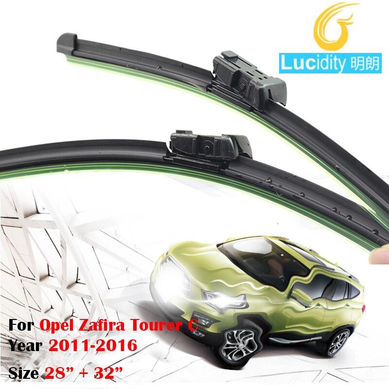 Frameless Soft Rubber Wiper Blades For 2011 2016 Opel Zafira Tourer C Car Bracketless Windshield Windscreen
