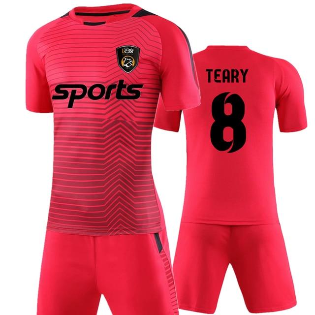 Hearuisavy profesional adulto fútbol uniformes fútbol Kit barato  transpirable camiseta de fútbol chándal 6185817fc3595
