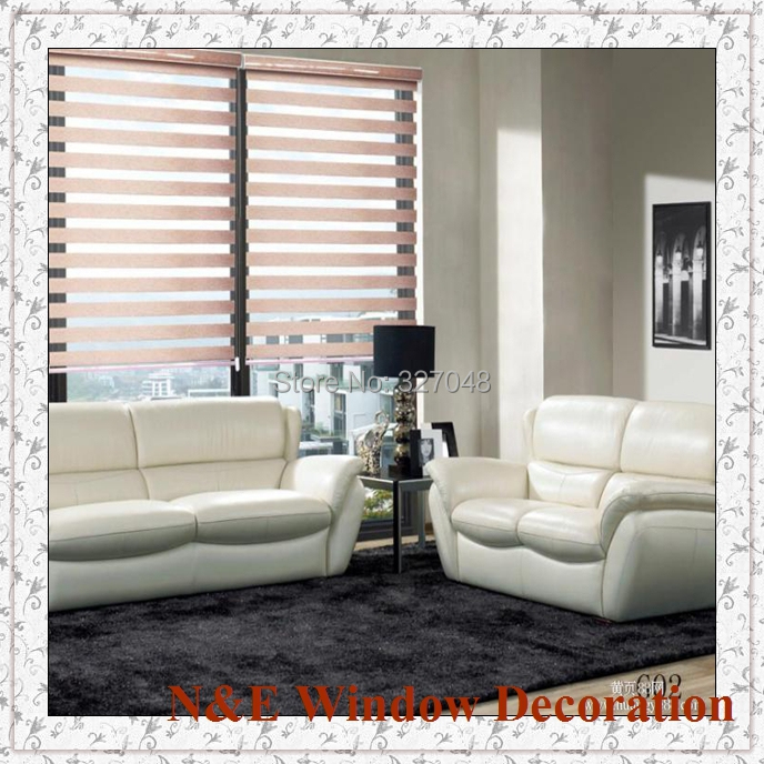 free shipping popular zebra blinds double layer roller blinds and curtain fabric curtain window curtainin curtains from home u0026 garden on