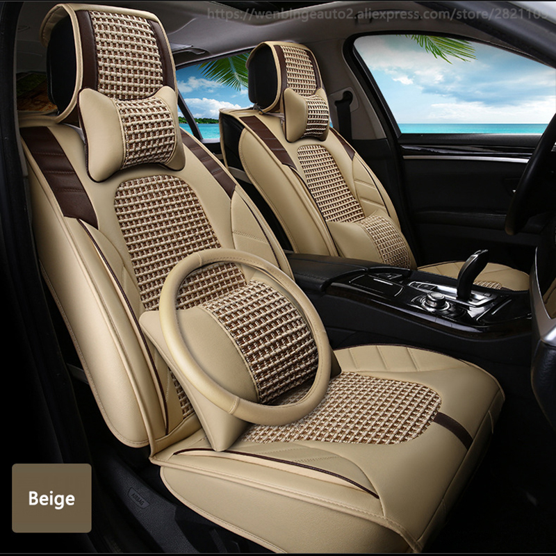 high quality Leather car seat cover for Dacia All Models Sandero Duster Logan pink automobiles accessories car styling