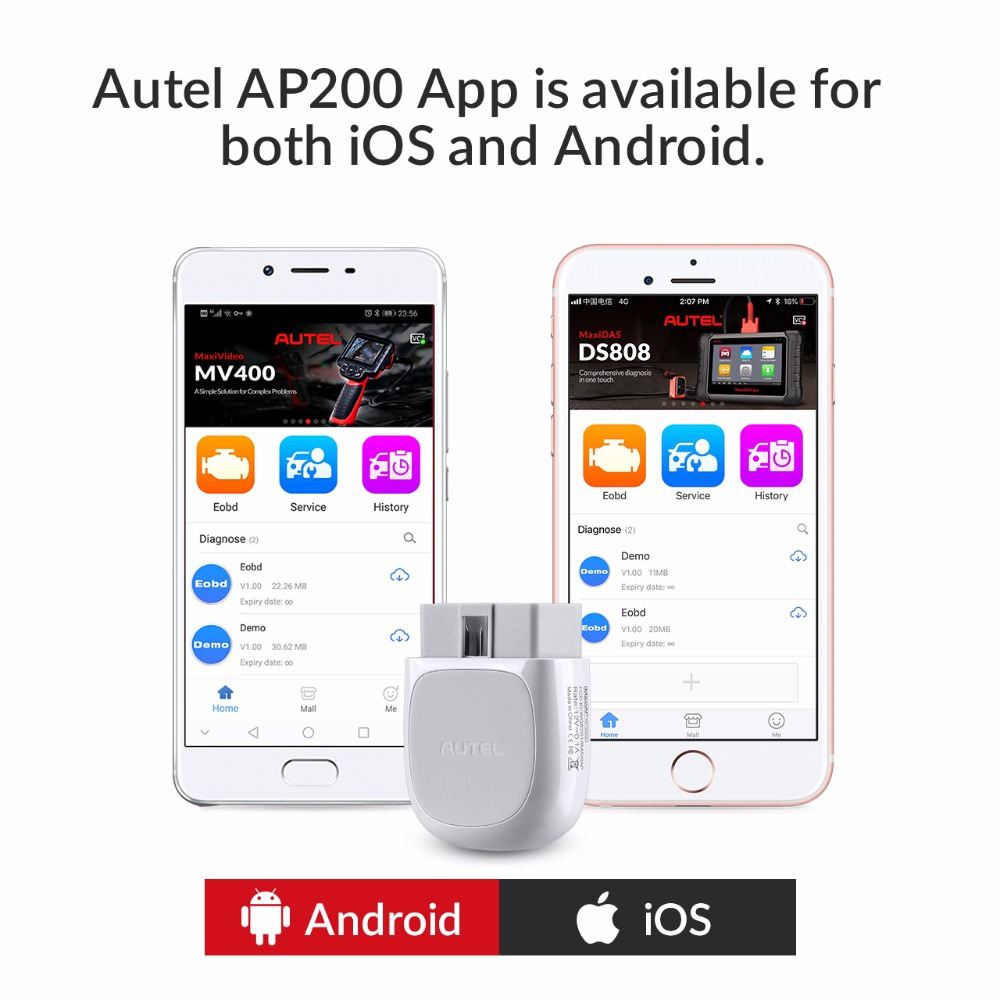 Autel AP200 Bluetooth OBD2 Scanner Code Reader with Full