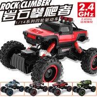 Новейшие rc грузовик 2.4 г 4WD рок сканеры 1:14 двойной Двигатели Drive Bigfoot RC Дистанционное управление автомобиль внедорожник игрушка VS k959