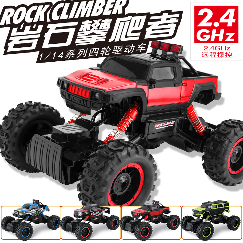 Newest RC truck 2 4G 4WD Rock Crawlers 1 14 Double Motors Drive Bigfoot rc Remote
