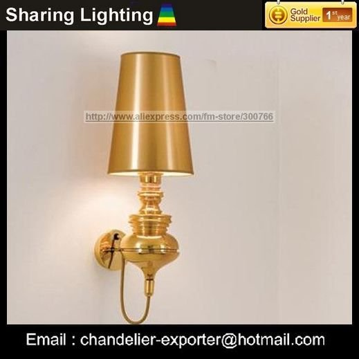 [Sharing Lighting]Golden wall lamp,modern lamps+Free shipping wall sconce