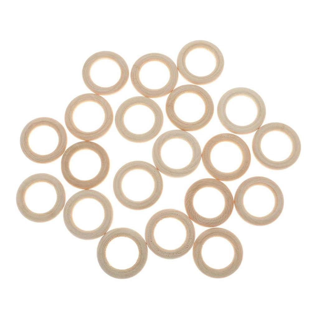 20 шт 3,5 см кольцо из натурального дерева материал для DIY ювелирных изделий украшение для скрапбукинга