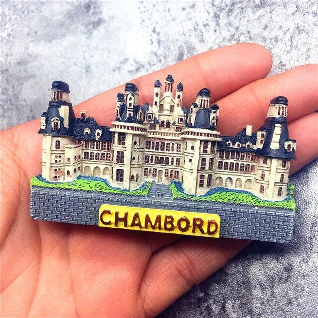 3D Handmade Tourist Souvenir Fridge Magnet France Chateau de ...