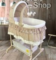 Baby cradle bed Europe type multifunctional with mosquito nets roller environmental baby cribs bb shaking bed basket