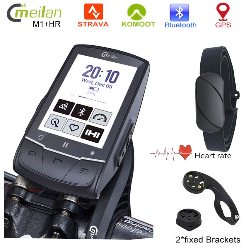 GPS Bike navigation Bicycle Computer 2 6 inch Speedometer Wireless Cycling Computer Support connection Sensor Heart