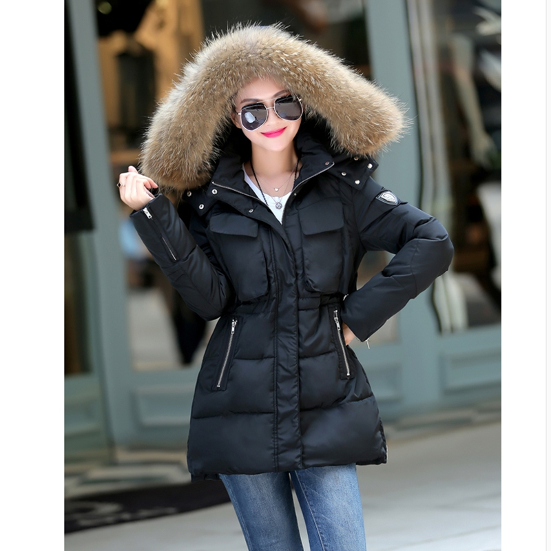 2017 NEW HOT SALE WOMEN PLUS SIZE PARKA SOLID SLIM SASHENS BIG HAIR COLLAR FAMELA WINTER JACKET HIGH QUALITY COTTON PADDED ZL336 hot sale creative style s size women s hair tool