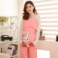 2016 Limited Character Dobby Cotton Round Neck Natural Color New Nursing Clothes Suits Pregnant Home Pajamas Wholesale Price
