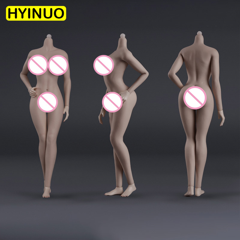 JIAOU DOLL Female Figure 1//6 Scale Big Chest Seamless Europe Muscle Girl Body