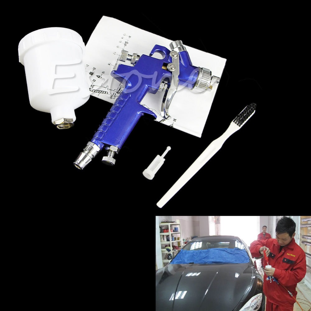 Mini HVLP Traditional Auto spray gun with 0.8mm nozzle Automotive Shop Paint Gun tool Navy Blue Air Brush Alloy