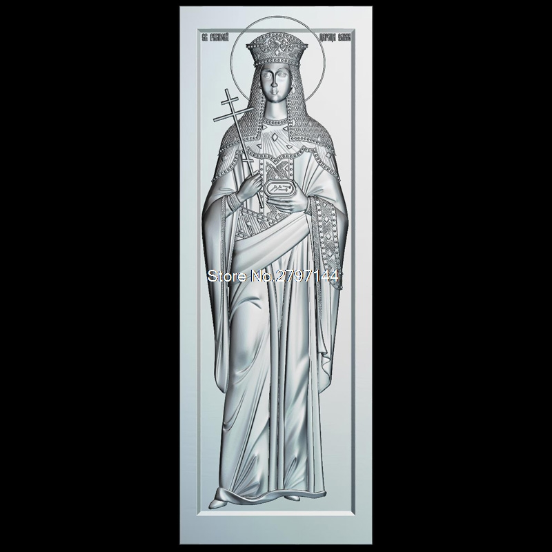 Icon of St. Helena 3d model for cnc STL format Religion 3d Relief Model STL Router 3 axis Engraver ArtCam st sergius of radonezh 3d model relief figure stl format religion 3d model relief for cnc in stl file format