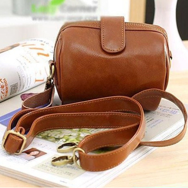 Mini Bowling Bag Whole Women Vintage Leather Handbags Las Party Purse Messenger Clutches Hot Crossbody