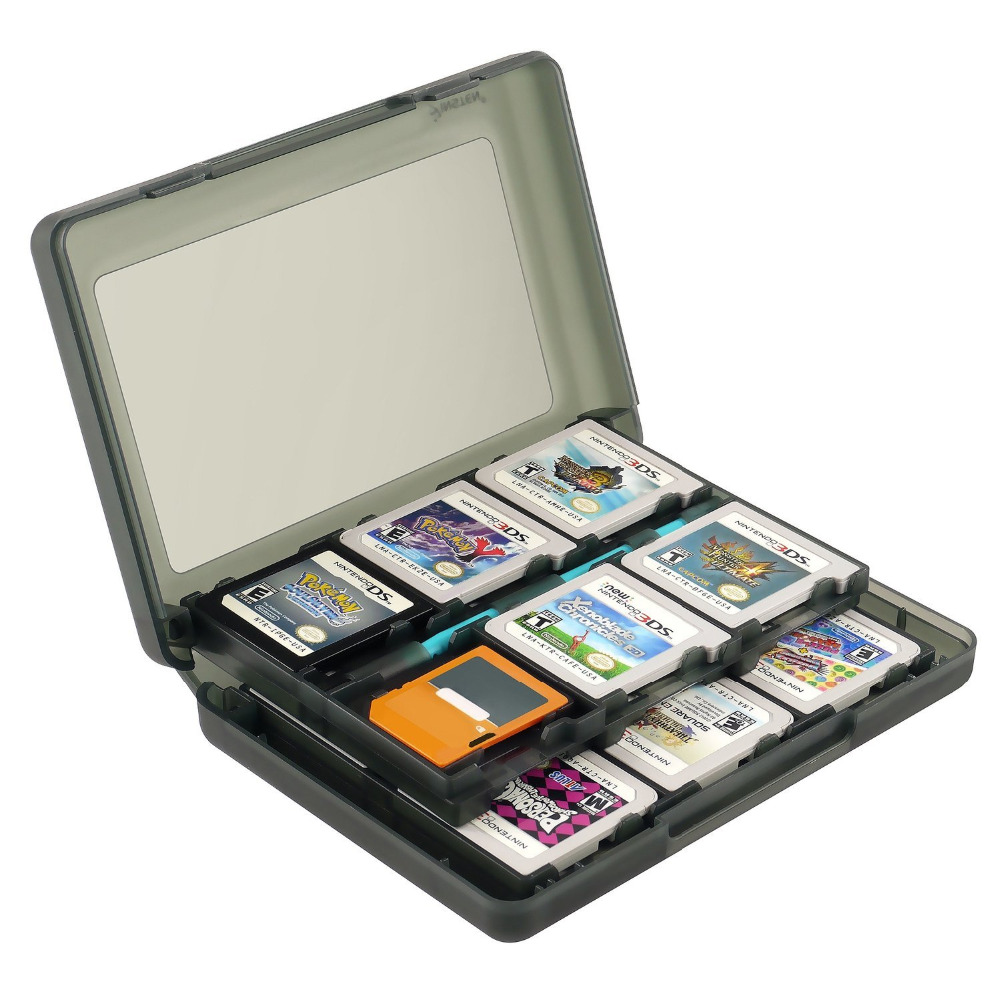 28 in 1 protective game card cartridge holder case box for nintendo ds ds lite dsi 3ds. Black Bedroom Furniture Sets. Home Design Ideas