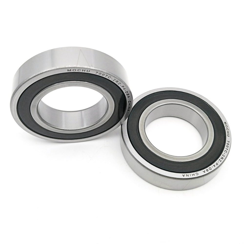 1 Pair MOCHU 7007 7007C 2RZ P4 DB 35x62x14 35x62x28 Sealed Angular Contact Bearings Speed Spindle Bearings CNC ABEC-7