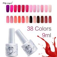 Lily angel 9 мл УФ светодиодный Гель-лак для ногтей длительного действия Гель-лак новые ногтевые товары для рукоделия идеальная быстрая сушка 38 цветов