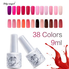 Lily angel 9ml UV LED Gel Nail Polish  Long Lasting Varnish 2019 New Art Supplies Perfect Fast Dry 38 Color