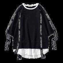 2020 Summer style Men T Shirt Hip Hop O Neck Short Sleeve Casual Ribbon Decoration Streetwear Top Tees Men ABZ362