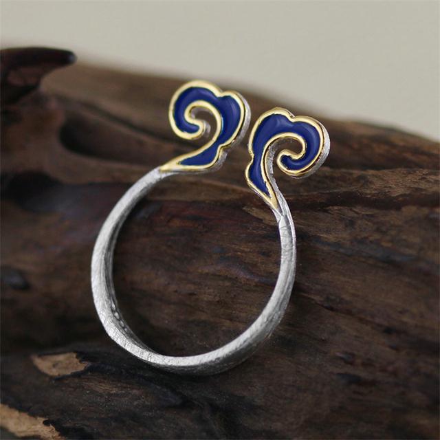 Joyería hecha a mano Étnica de la Nube Diseño Anillos Para Las Mujeres anel feminino Real 925 Plata Esterlina anillos de ofertas