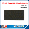 P3 Indoor Full Color Advertising Media LED Display Module 192*96mm Indoor LED Video Wall 2121SMD Full color
