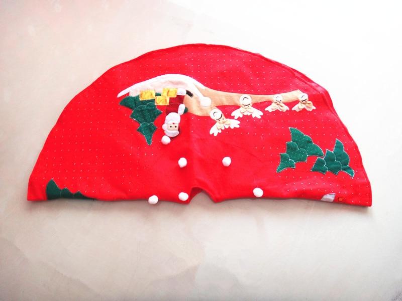 1 шт. Санта Клаус Рождество дерево юбка Золотой Край оленей 100 см чехол База Merry Рождество украшения елка Обложка Декор