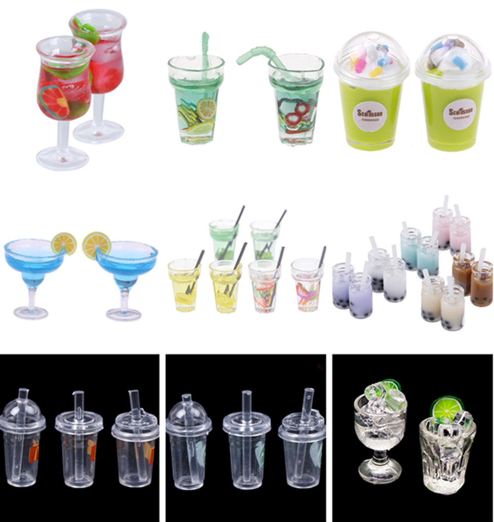 1/2/3pcs Lemon Water Cup 1:12 Dollhouse Miniature Doll House Accessories Cups Toy Small Decoration Gifts Furniture Toys