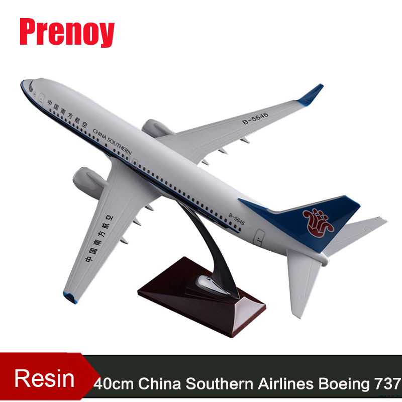 40cm Resin Aircraft Model B737 China Southern Airlines Airplane Model Boeing 737 Airways Plane Model Southern Airbus Stand Craft inflight china southern airlines b 5157 1 400 b737 800 commercial jetliners plane model hobby