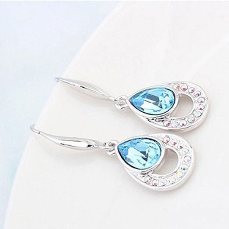 Crystal Water Drop Dangle earrings 2