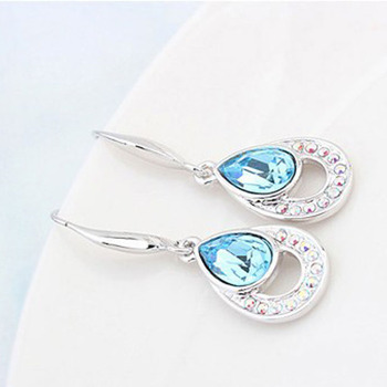 Crystal Water Drop Dangle earrings 2