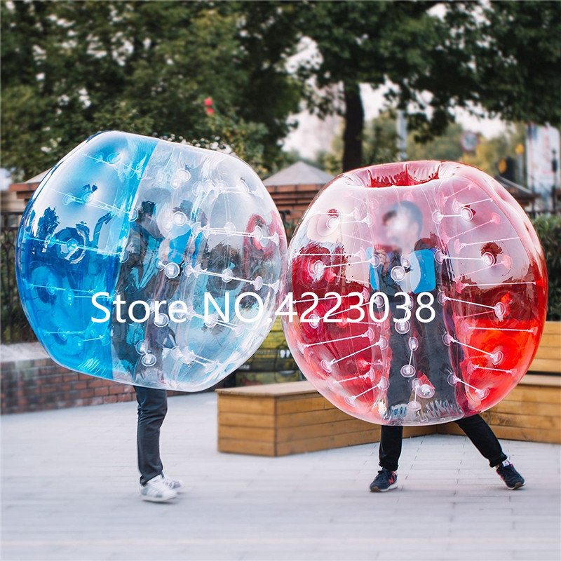 Взрослых 1,5 м красный и прозрачный мыльный пузырь из PVC пузырь Футбол шар-бампер для бампербола с ПВХ Материал