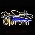 Sinais de néon Corona Avião Neon Lâmpadas Artesanais parede da Sala de Recreação Sinal Exposição Da Loja de Tubos de Néon Personalizado 19x15