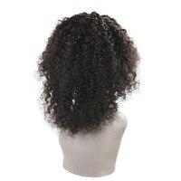 Полный блеск бесклеевой парик натуральный черный Цвет Синтетические волосы на кружеве парик 150 плотность бразильский парик из настоящих во