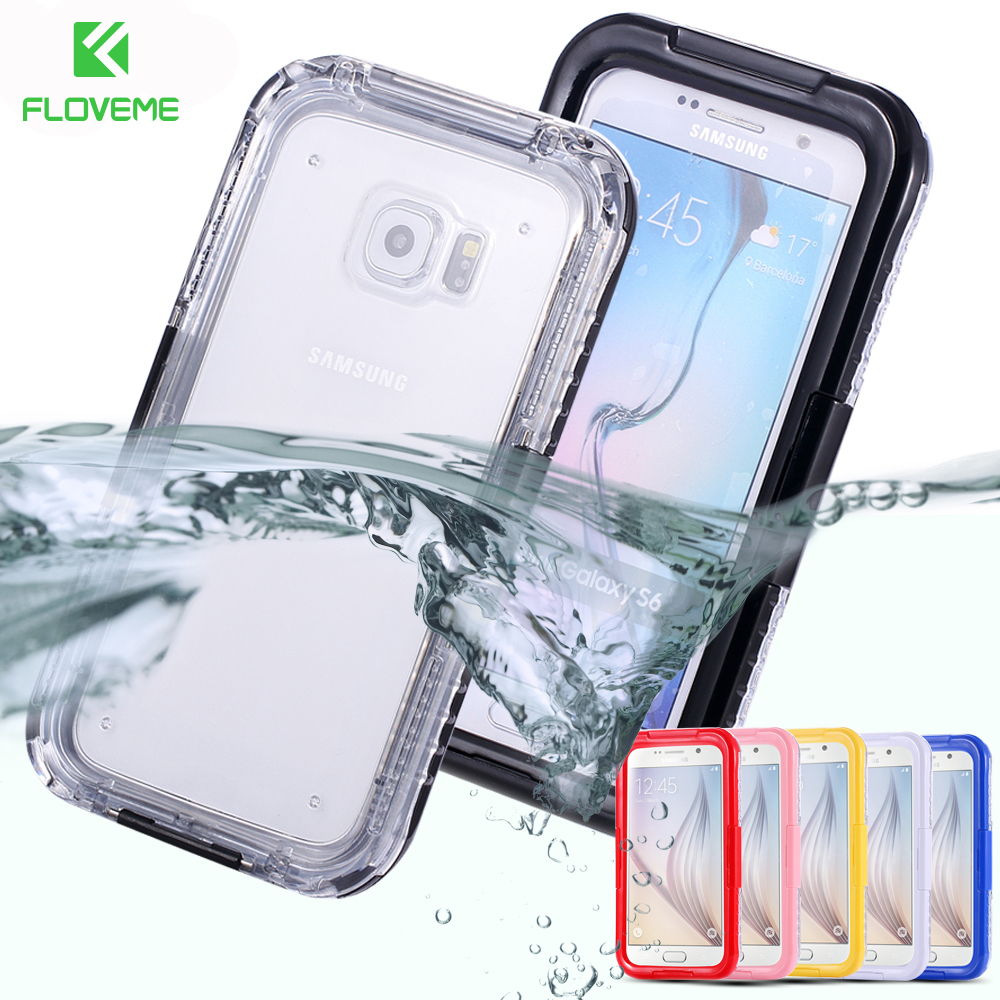 FLOVEME IP-68 Underwater Waterproof Case For Samsung S8 Plus Samsung Galaxy S6 Edge S7 Edge Cases Swimming Diving Phone Bags