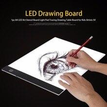1 шт. A4 светодиодный художественный трафарет, доска, светильник, коврик для рисования, доска для рисования, для детей, художников с кабелем