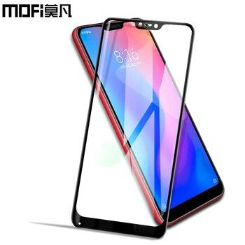 Xiaomi Mi A2 Lite glass tempered full cover MOFi original Xiaomi A2 Lite screen protector front film protective Mi A2 glass