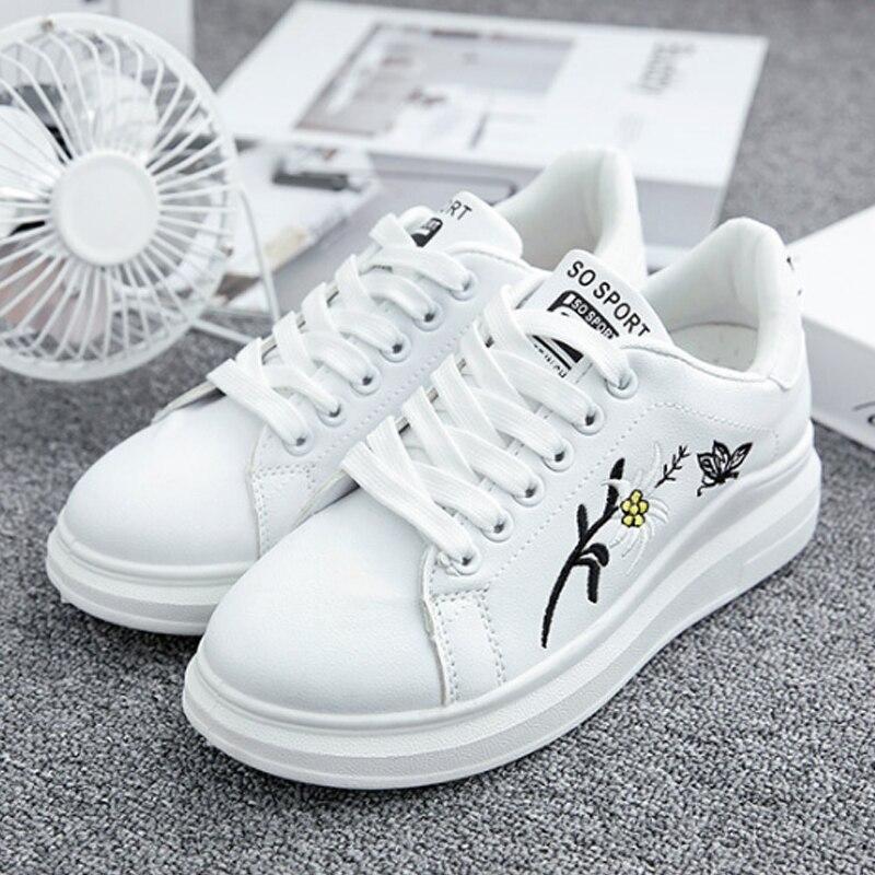Oeak Summer Women Sneakers Breathble Vulcanized Shoes Pu Leather Platform Lace Up Casual White Tenis Feminino Zapatos De MujerOeak Summer Women Sneakers Breathble Vulcanized Shoes Pu Leather Platform Lace Up Casual White Tenis Feminino Zapatos De Mujer