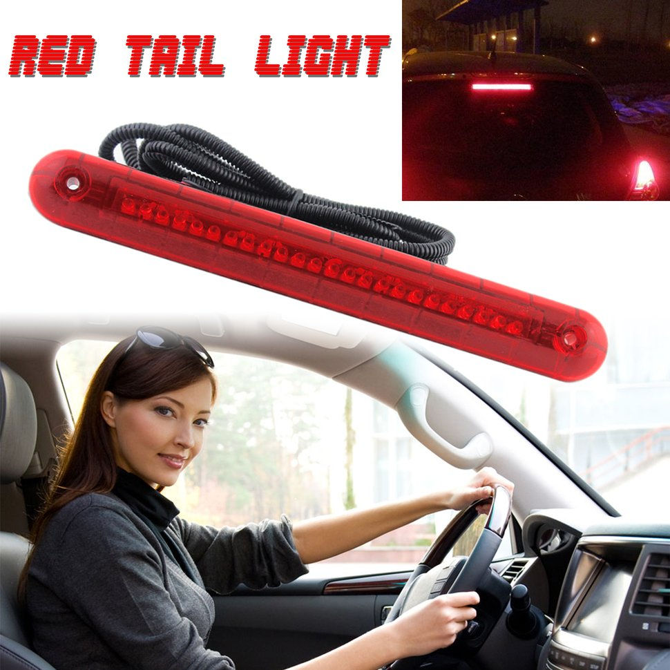 10pcs Car Rear Windscreen High Mount Third Stop Lamp 24 LED Red Tail Auto Light стоимость