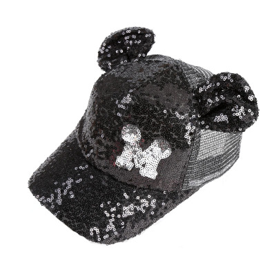 BINGYUANHAOXUAN 2018 Hot Sequins Ear Hats Kids Snapback Baseball Cap With Ears Funny Hats Spring Summer Hip Hop Boy Hats Caps