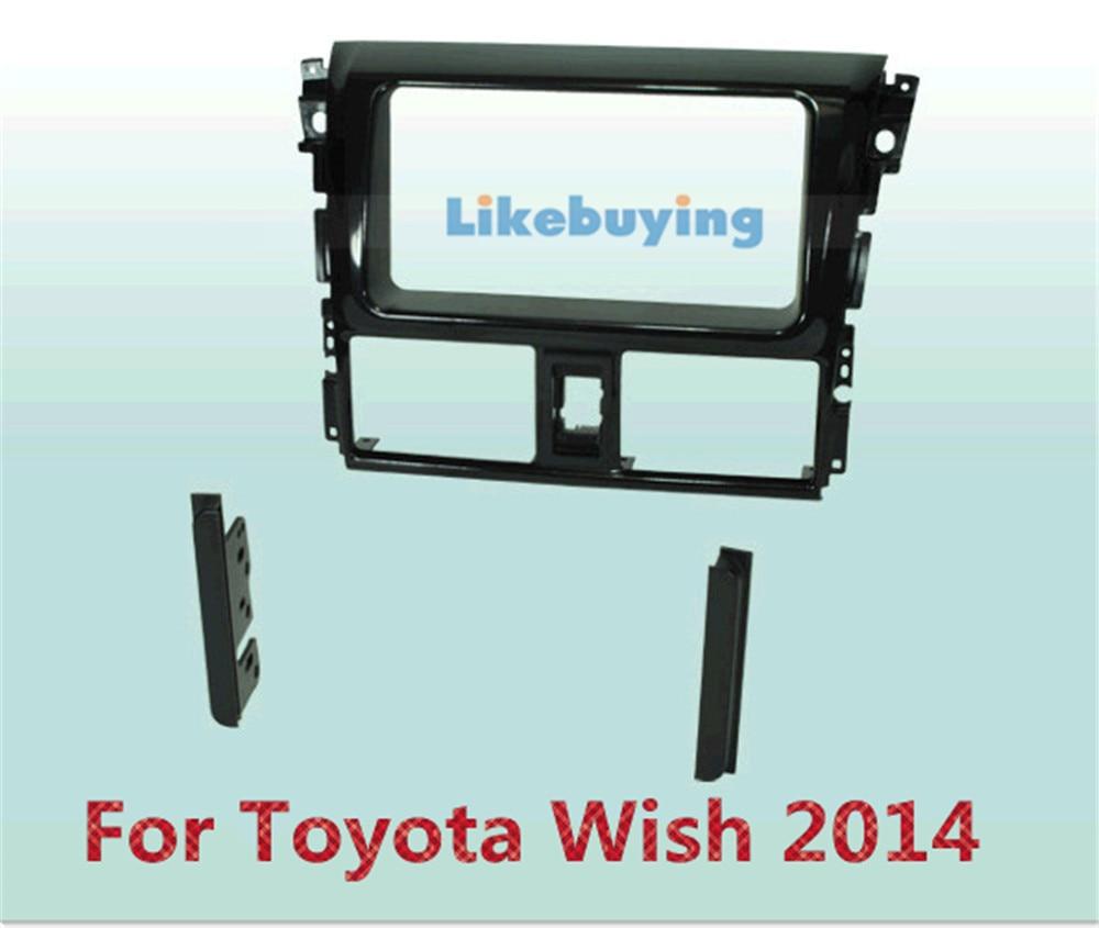 2 DIN Автомобиль Рама Даш Комплект /Автомобиль Фасции / Кронштейн Панель Для Toyota Пожелать 2014
