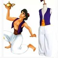 Aladdin Magic Lamp Prince Aladdin Costumes Purple Vest White Pants Classic Prom Dress Up XXS-XXXL