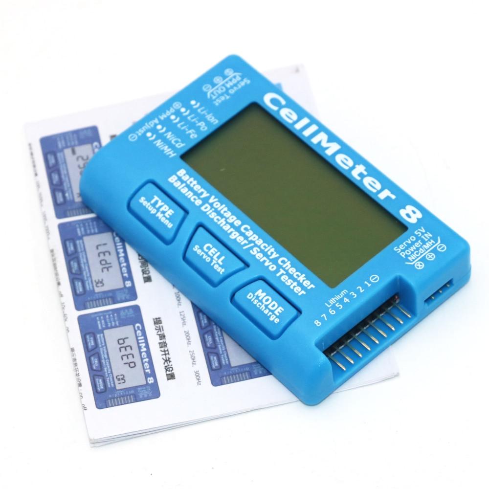 High Quality RC CellMeter-8 1-8S Battery Capacity Voltage Checker Meter LiPo Li-lon NiMH CellMeter 8 Wholesale