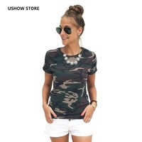 Europe And The United States Foreign Women S Favorite Camouflage Loose T Shirt