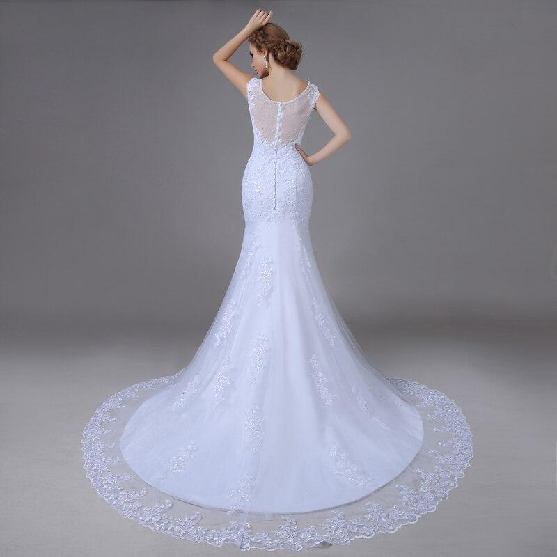 Wd 56008 real photo train sexy mermaid wedding dresses for True mermaid wedding dresses