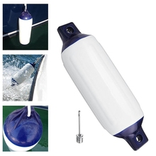 1Pcs Inflatable Boat Pvc Anti-Collision Barrel Marine Fender 400X110 Mm Uv Protection Ship Mooring Buffer Uv Protection Suitab