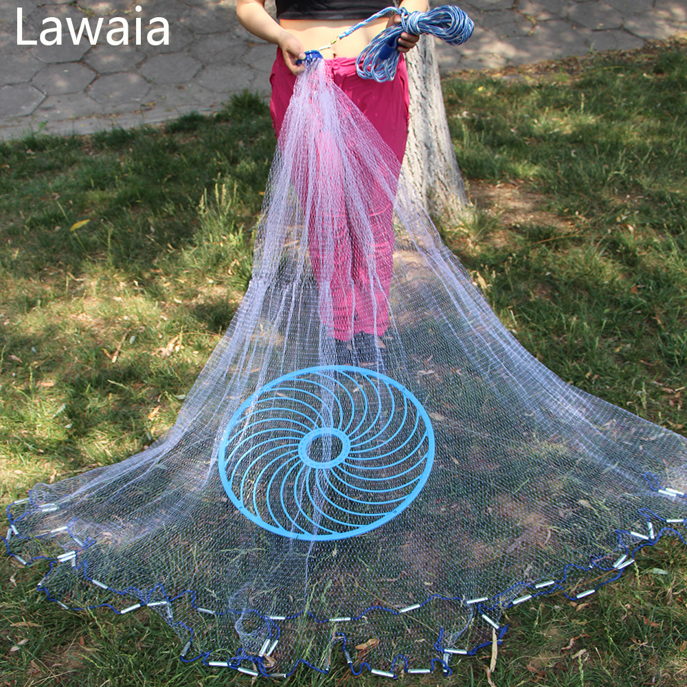 Lawaia Frisbee Throwing Hand American Fishing Network Fishing-net-china Fishing Net China Fishing-net Trap For Crabs quality gill net h5 l95m 3layer 3 5 and 19cm mesh sink net fish trap sticky fishing net outdoor pesca reservoir fishing network
