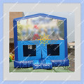 New Design 4m by 4m  Inflatable Blue Bounce House/Commercial Quality for rental business/Other themes also can be made
