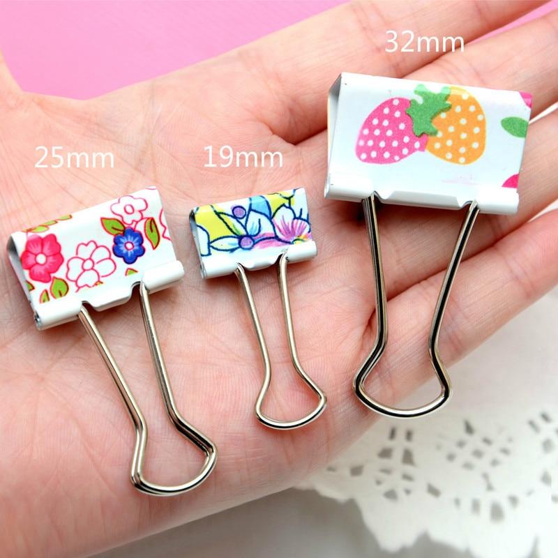 Binder Clips 25mm Paper Clip Decorative Mini Design Metal