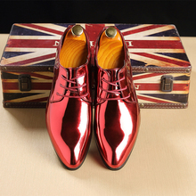 2020 Fashion Bright Business Leather Shoes Trend Pointed Toe Men