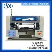 Низкая стоимость производство печатных плат линии Палочки место машина smd/LED пайки машина, 4 головки 6 камер, 7000 шт./час, 220 В/110 В, 50 Гц